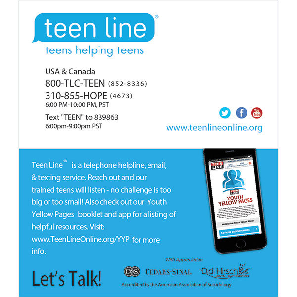 teenline business cards