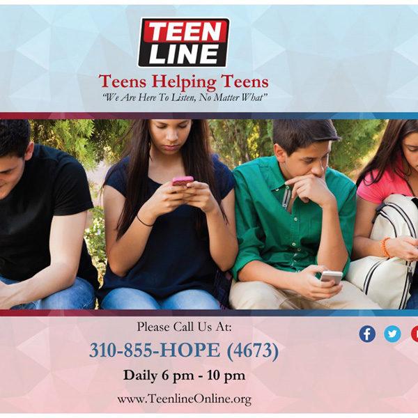 Teens Helping Teens Poster Horizontal