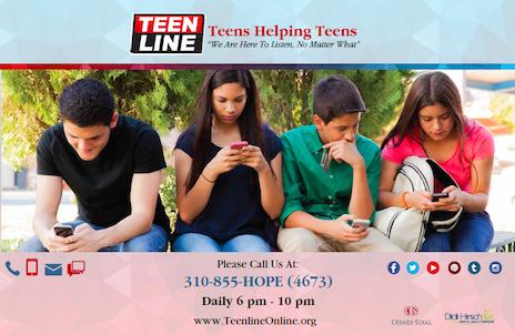 Teens Helping Teens Poster - Horizontal
