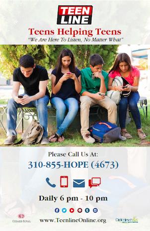 Teens Helping Teens Poster - Vertical