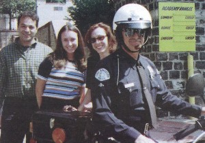 Teen Line's Teen Suicide Prevention Team members Scott Zorn, Susan Tierney and Traci Lehman conduct training on teen suicide prevention for Los Angeles police officers at the police academy in 1998.
