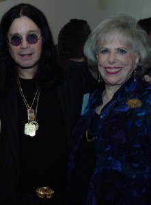 Ozzy Osbourne and Dr Elaine Leader at the Teen Line Luncheon