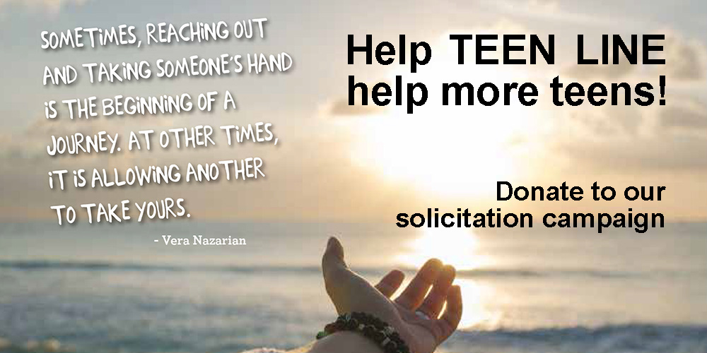 Teenline Solicitation - Teens Helping Teens 2018