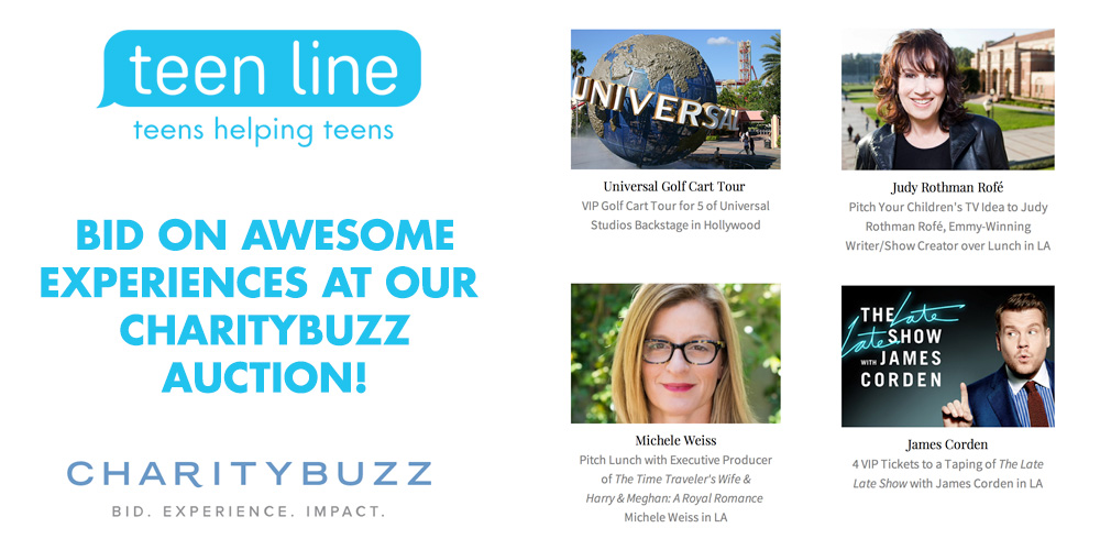 Bid on awesome experiences at the TEEN LINE 2018 CharityBuzz Auction