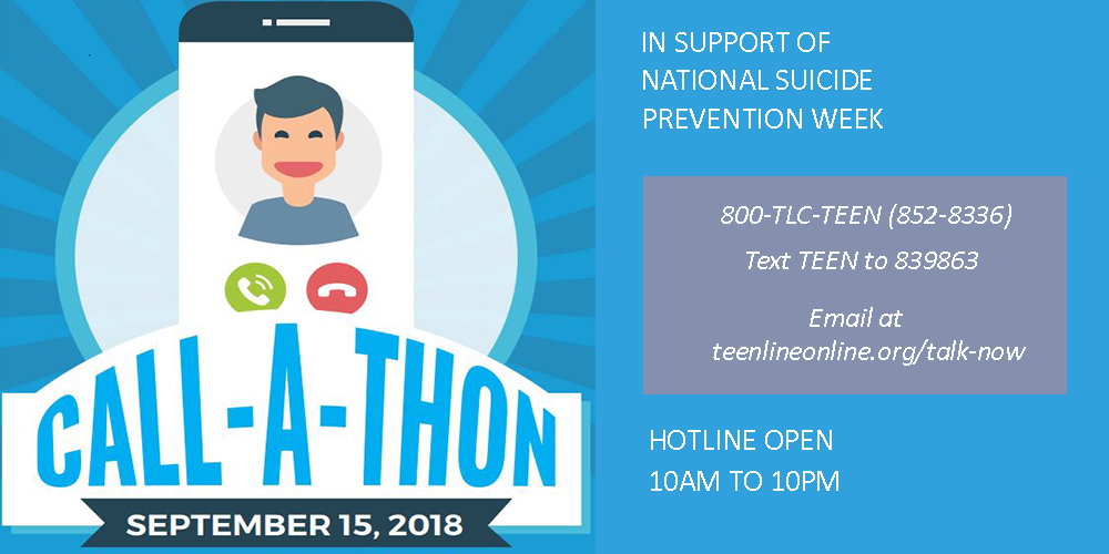Call-A-Thon in support of National Suicide Prevention Week