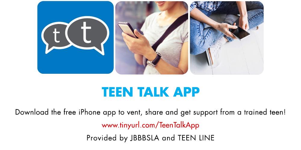 Teen Talk App by JBBSLA and TEEN LINE